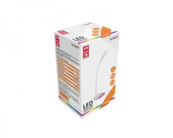 AVIDE ABLDLRGB-4W LED punjiva stona lampa 4w (240 LUMEN) bela