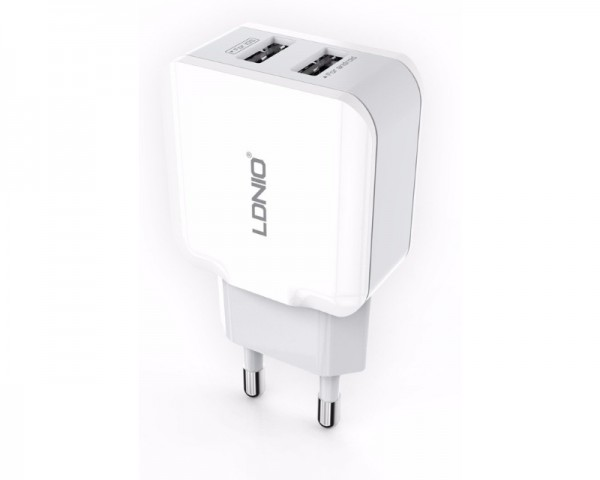 LDNIO USB Punjač 2 porta 5V2.4A 12W beli A2202