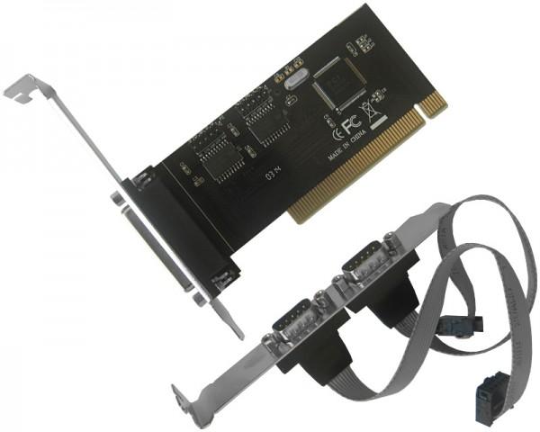 JAVTEC PCI kontroler 2xSerial + Parallel