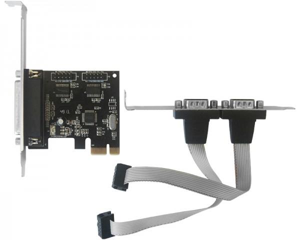 JAVTEC PCI Express kontroler 2xSerial + Parallel