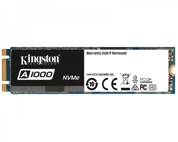 KINGSTON 480GB M.2 NVMe SA1000M8480G SSD A1000 series