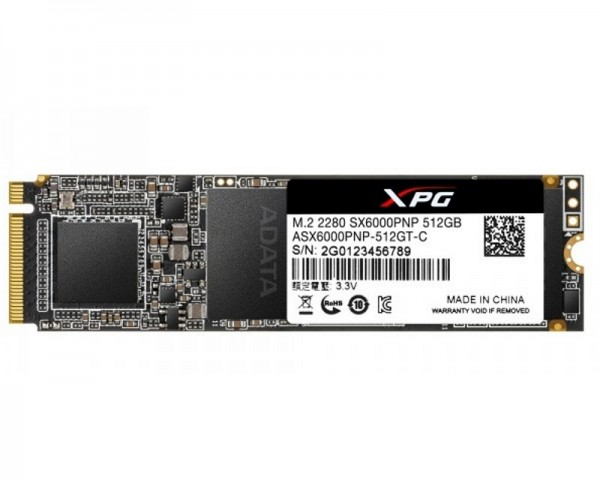 A-DATA 512GB M.2 PCIe Gen 3 x4 NVMe ASX6000PNP-512GT-C SSD