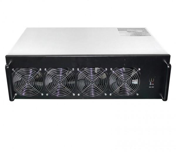 BIZ GROUP - Compute Edge-R08 - ASROCK H110 PRO, 2x1250W, 1xIntel Pentium G4560, 2x4GB DDR4 1x120GB SSD 8xRadeon VII 16gb HBM2