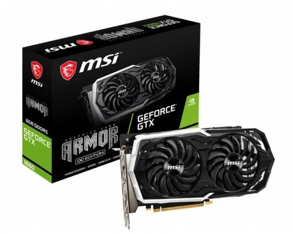 MSI nVidia GeForce GTX 1660 6GB 192bit GTX 1660 ARMOR 6G OC