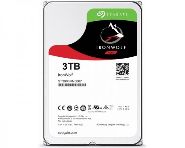 SEAGATE 3TB 3.5'' SATA III 64MB ST3000VN007 IronWolf Guardian
