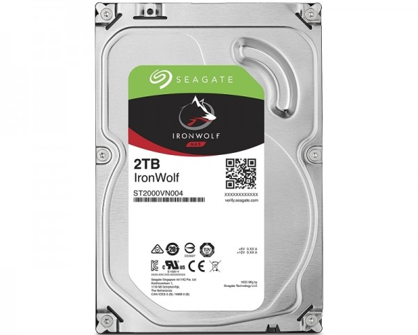 SEAGATE 2TB 3.5'' SATA III 64MB ST2000VN004 IronWolf NAS