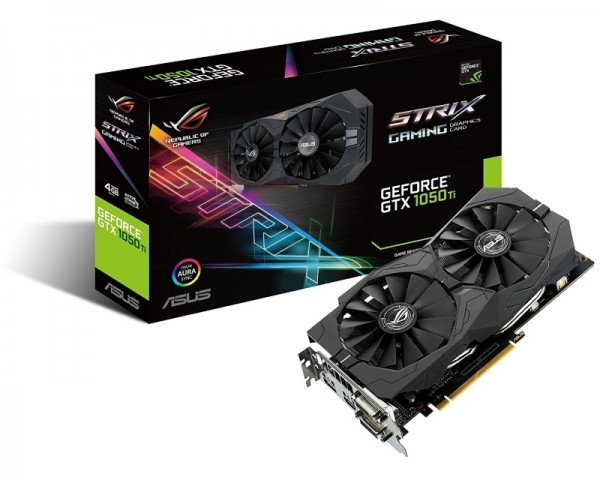 ASUS nVidia GeForce GTX 1050 Ti 4GB 128bit STRIX-GTX1050TI-4G-GAMING