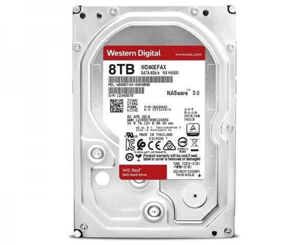 WD 8TB 3.5'' SATA III 256MB 5400 WD80EFAX Red