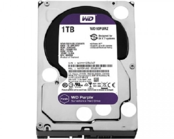WD 1TB 3.5'' SATA III 64MB IntelliPower WD10PURZ Purple