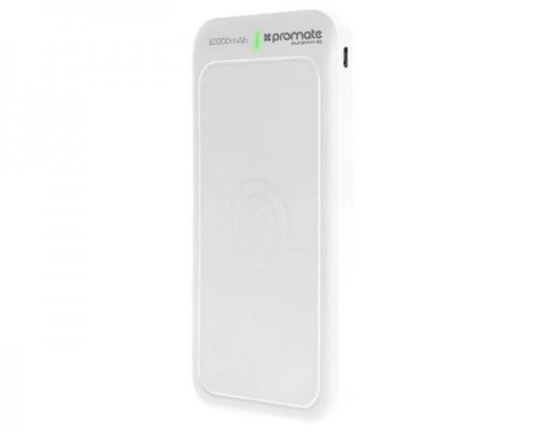 PROMATE AuraVolt-10 Qi Wireless 10,000mAh prenosiva baterija bela