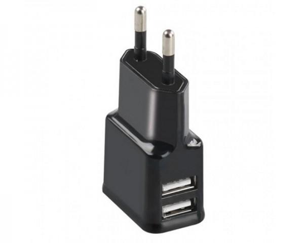 PROMATE Hype-EU USB 2.1 dual punjač crni