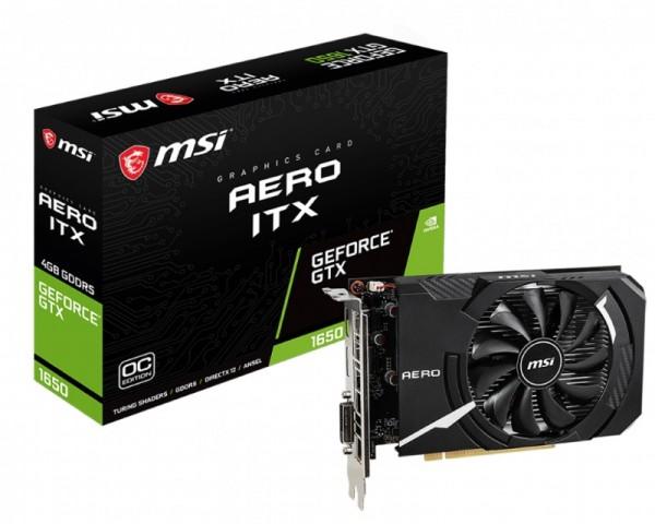 MSI nVidia GeForce GTX 1650 4GB 128bit GTX 1650 AERO ITX 4G OC