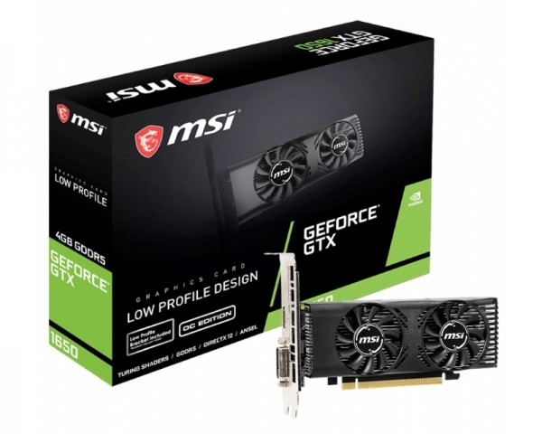 MSI nVidia GeForce GTX 1650 4GB 128bit GTX 1650 4GT LP OC
