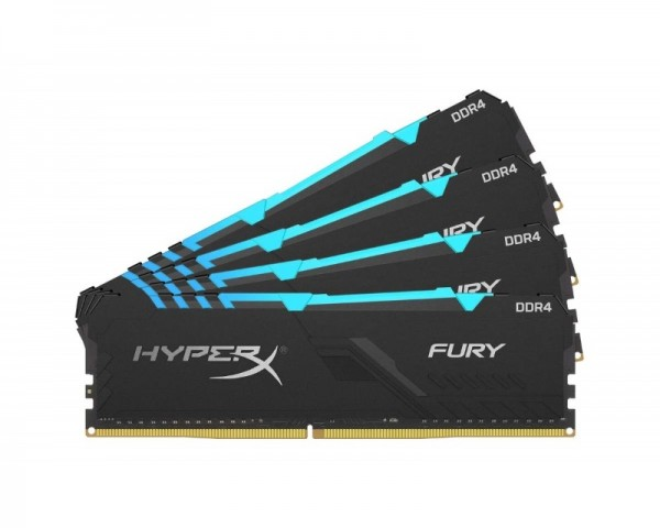 KINGSTON DIMM DDR4 64GB (4x16GB kit) 3200MHz HX432C16FB3AK464 HyperX Fury RGB