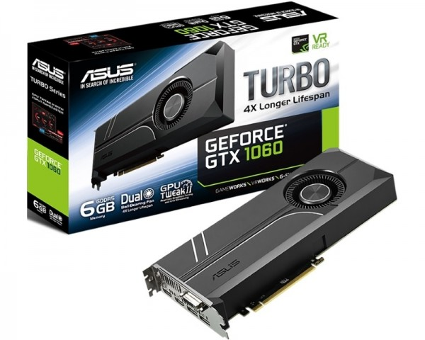 ASUS nVidia GeForce GTX 1060 6GB 192bit TURBO-GTX1060-6G