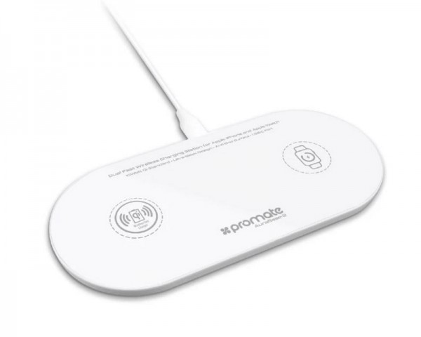 PROMATE AURABASE-2 Dual-Fast punjač za Apple beli