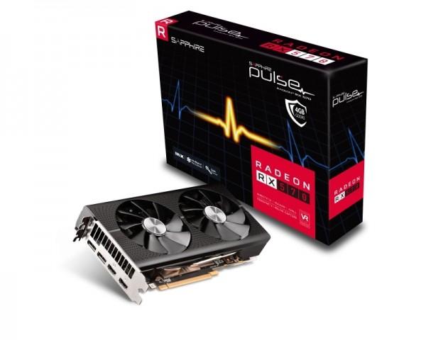 SAPPHIRE AMD Radeon RX 570 4GB 256bit PULSE RX 570 4G D5 (11266-67-20G)