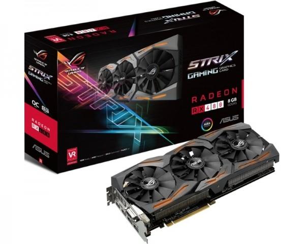 ASUS AMD Radeon RX 480 8GB 256bit STRIX-RX480-O8G-GAMING