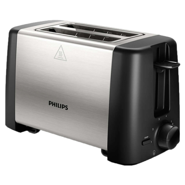 PHILIPS Toster HD482590 CrnaInox, 7, 2, 800 W
