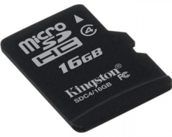 KINGSTON MicroSDHC 16GB class 4 SDC416GBSP