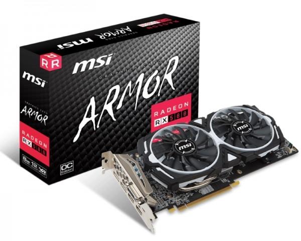 MSI AMD Radeon RX 580 8GB 256bit RX 580 ARMOR 8G
