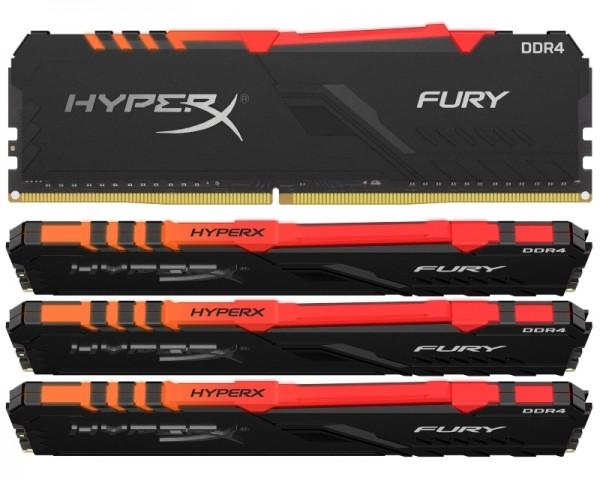 KINGSTON DIMM DDR4 64GB (4x16GB kit) 3600MHz HX436C17FB3AK464 HyperX Fury RGB