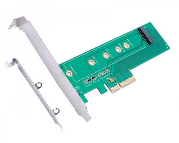 E-GREEN PCI Express M.2 (NGFFSSD) na PCI Express SATA 4 x 3.0 Adapter