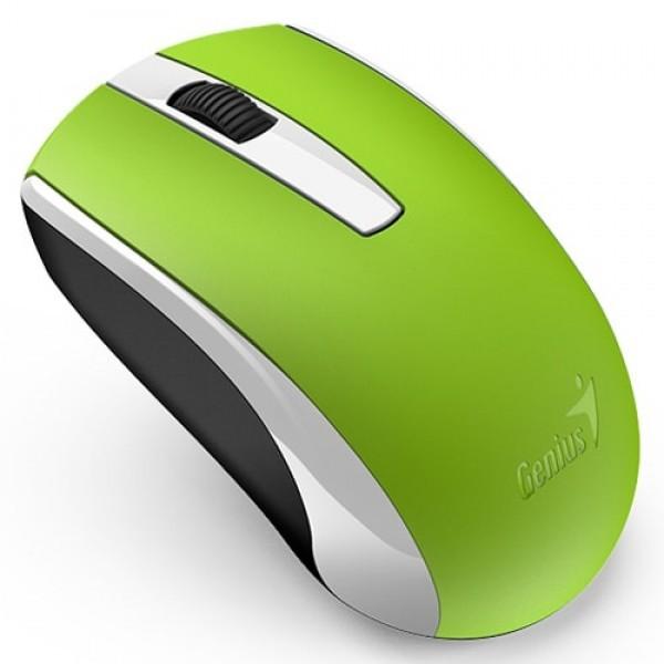 GENIUS bežični miš ECO-8100 (Zeleni) Optički, 1600dpi, 2.4GHz, Simetričan