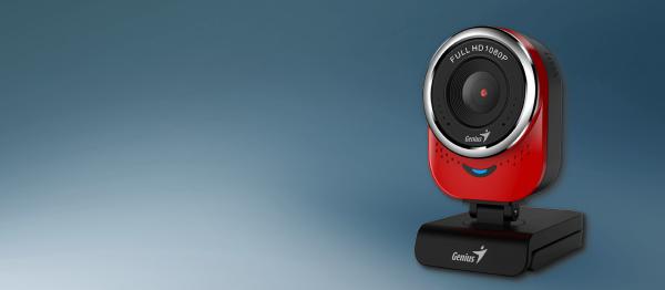 Genius Web kamera QCam 6000 (Crvena), 2,1 Mpix, USB 2.0