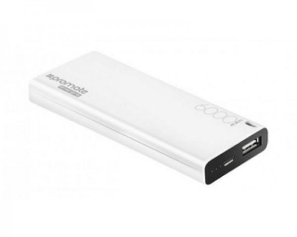 PROMATE Energi-6 6000mAh prenosiva baterija bela