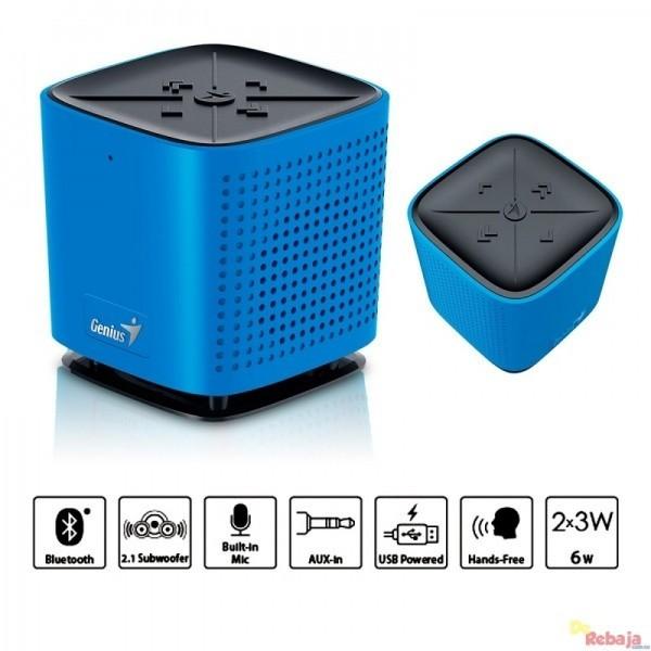 GENIUS bluetooth zvučnik SP-920BT (Plavi) - 31731061104 Stereo, 6W, 40mm
