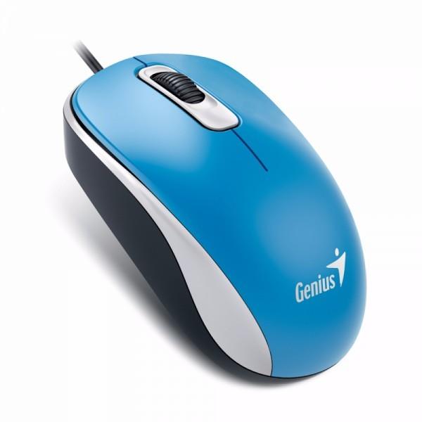 GENIUS žični miš DX-110 (Plavi) - 31010116103 Optički, 1000dpi, Simetričan (pogodan za obe ruke)