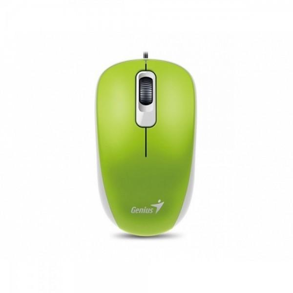 GENIUS žični miš DX-110 (Zeleni) - Optički, 1000dpi, Simetričan (pogodan za obe ruke), Zelena