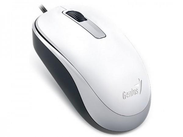 GENIUS DX-125 žični miš Optički, 1000dpi, Simetričan (pogodan za obe ruke), Bela