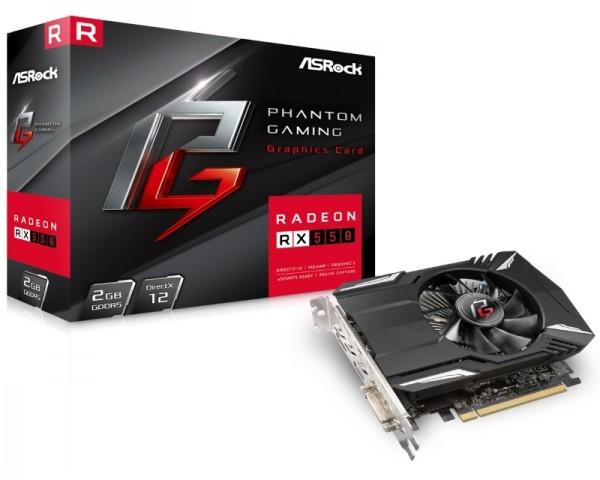 ASROCK AMD Radeon RX 550 2GB 128bit PHANTOM G R RX550 2G