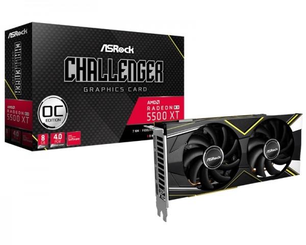 ASROCK AMD Radeon RX 5500 XT 8GB 128bit RX5500XT CLD 8GO