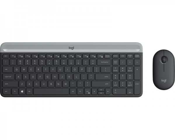LOGITECH MK470 Wireless Desktop US Graphite tastatura + miš