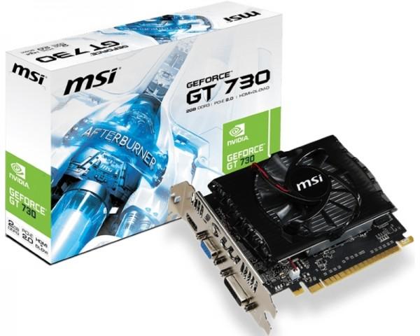 MSI nVidia GeForce GT 730 2GB 128bit N730-2GD3V2
