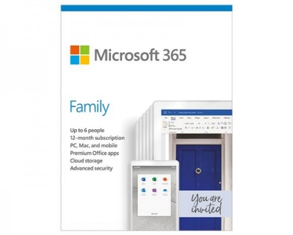 MICROSOFT Microsoft 365 Family English Subscr 1YR CEE Only Medialess P6 (6GQ-01191)