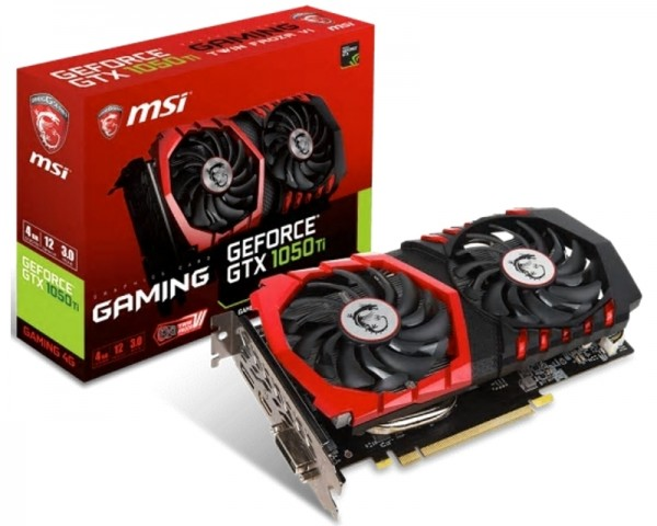 MSI nVidia GeForce GTX 1050 Ti 4GB 128bit GTX 1050 Ti GAMING 4G