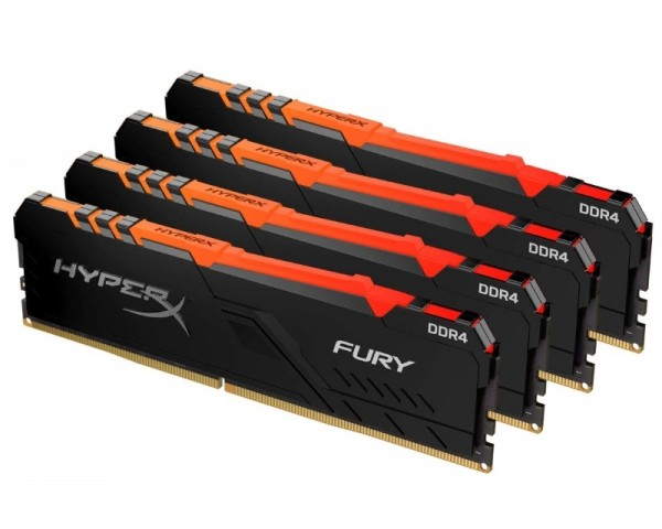 KINGSTON DIMM DDR4 128GB (4x32GB kit) 3200MHz HX432C16FB3AK4128 HyperX Fury RGB
