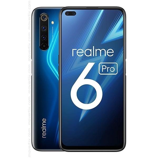 REALME 6 Pro (Plava), 6,6'', 8128GB, 64 Mpix + 12 Mpix + 8 Mpix + 2 Mpix