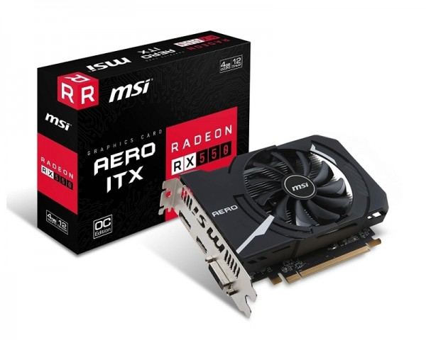 MSI AMD Radeon RX 550 4GB 128bit RX550 AERO ITX 4G OC