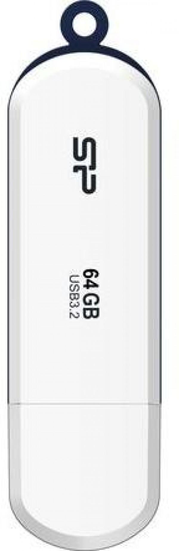 Flash Drive Silicon Power 64GB Blaze B32 USB3.2 SP064GBUF3B32V1W White
