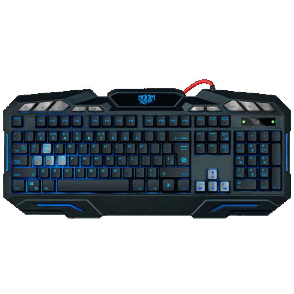 Tastatura Defender Doom Keeper GK-100DL US USB, žična, gejmerska