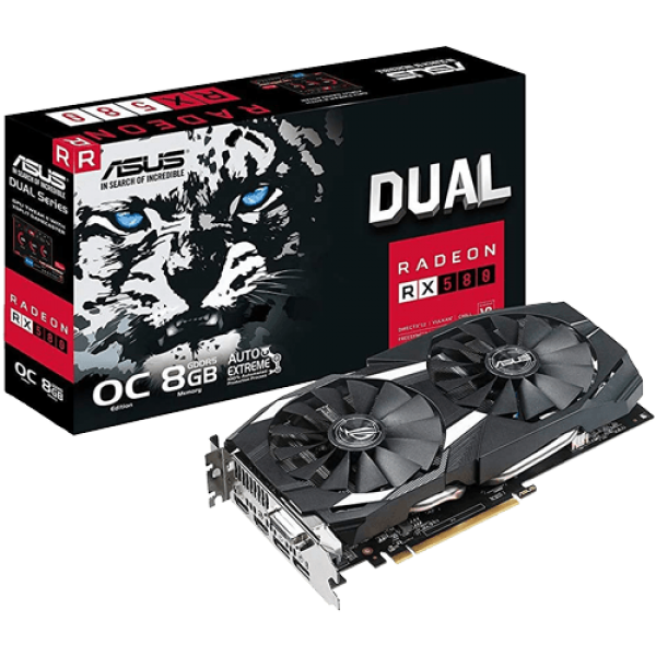 SVGA PCIE ASUS DUAL-RX580-O8G 256bit