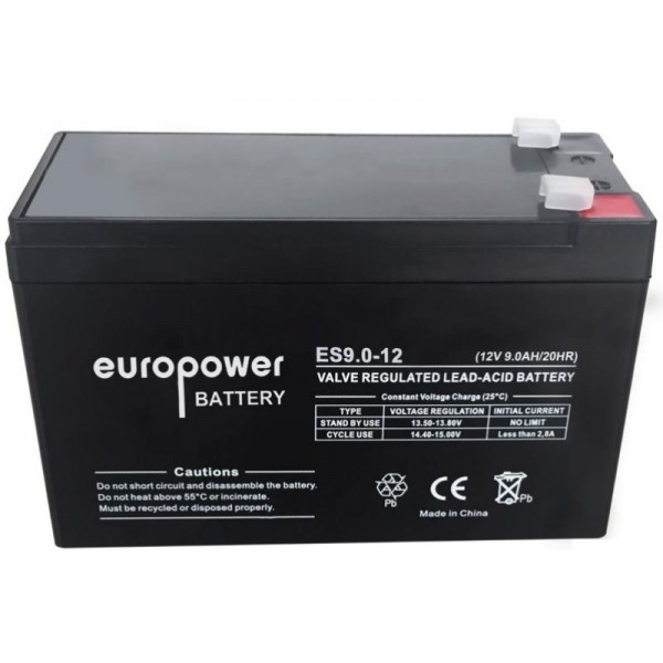 UPS Battery Europower ES12-9 12V 9Ah