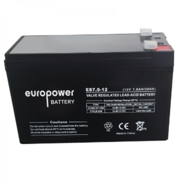 UPS Battery Europower ES12-7 12V 7Ah