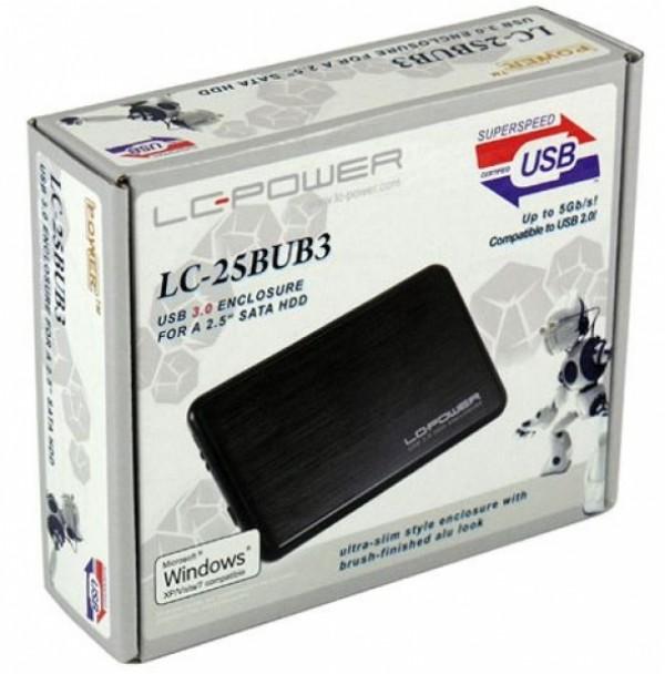 HDD Rack LC Power 2.5'' LC-25BUB3 SATA Black USB3