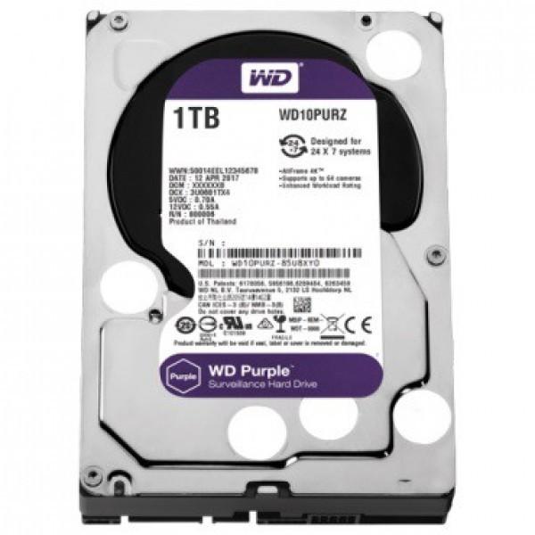 HDD WD 1TB WD10PURZ SATA3 64MB Caviar Purple